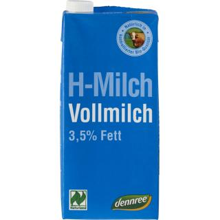 dennree H-Milch, 1 ltr Packung Naturland